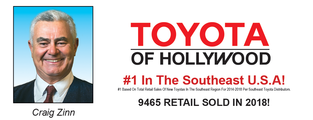 MSA made Toyota of Hollywood #1 in the Southeast USA!